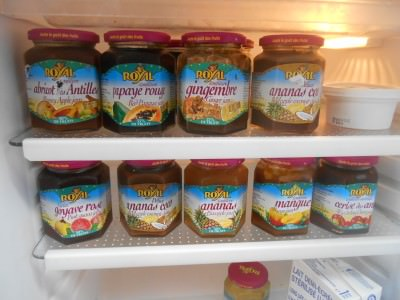 Friday's Featured Food - incredible range of outstanding jams in Cayenne, French Guyana.
