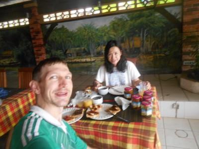 Breakfast JAM time in French Guyana.