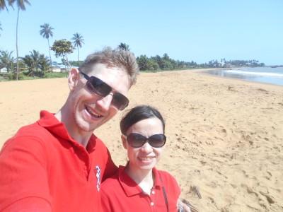Panny and I on Novotel Beach, French Guyana.