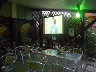 Amazing last minute scenes in Bar Des Sports in Kourou, French Guyana as Ivory Coast go out to Greece.