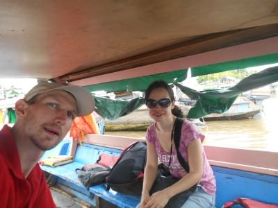 On board the boat from French Guyana to Suriname