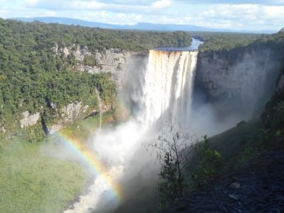 guyana waterfalls rainbow