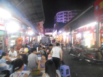 Da Lang Night Market in Dongguan, China