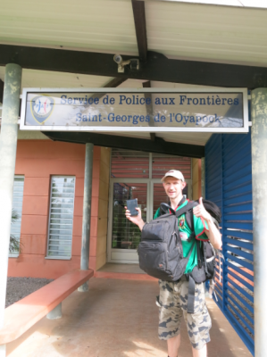 Got my passport stamped in French Guyana at St Georges de Loyapock - Border Police Building.