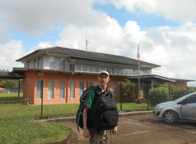 The immigration office which we finally found in St. Georges de L'Oyapock, French Guyana.
