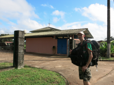 The immigration office in St. Georges de L'Oyapock in French Guyana, which is hard to find.