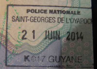 french guyana stamp passport