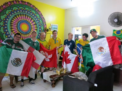 Mega World Cup parties in the J Sun hostel in Fortaleza!