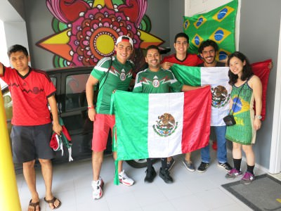 Amazing atmosphere with the Mexican guys in the J Sun hostel.
