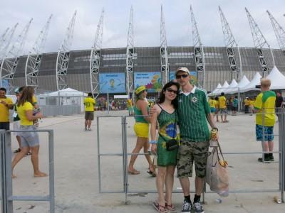 Outside the Castelao stadium for the Brazil v. Mexico match.