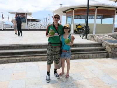 coconut juice fortaleza backpacking