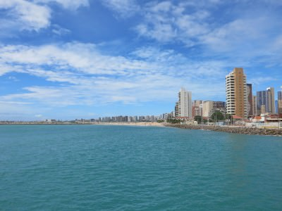 Outstanding views of Fortaleza from the pier.