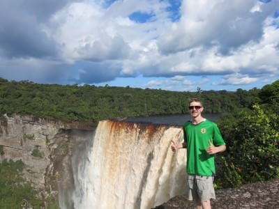 Just before the moment of awe at Kaieteur Falls.