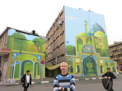 wall murals tehran backpacking