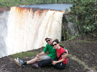 Panny and I relaxing at the top of the waterfall.
