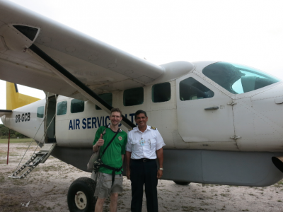 With the pilot before leaving Kaieteur National Park