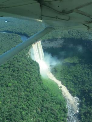 flying over kaieteur falls