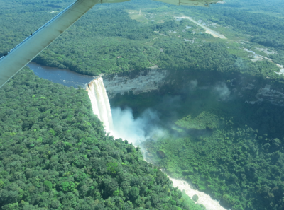 View of Kaieteur Falls from the flight