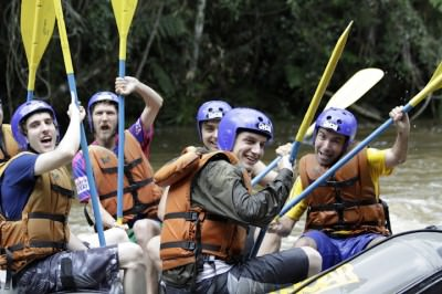 White water rafting in Juquitiba, Brazil