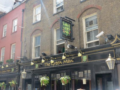 The Green Man pub in Soho, London