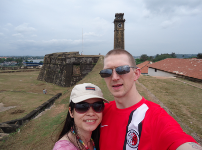 Touring Galle Fort in Sri Lanka.