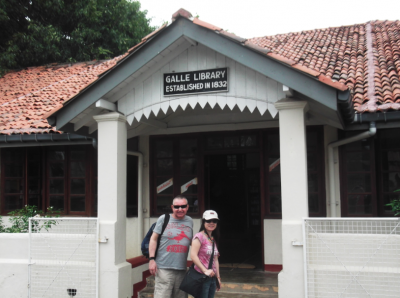 backpacking sri lanka galle library