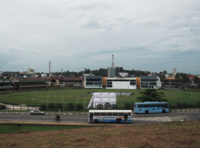 Backpacking in Galle, Sri Lanka - Cricket Stadium.