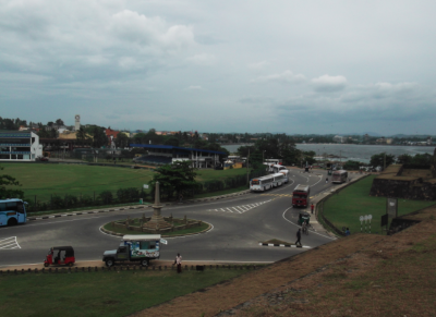 View back into the town of Galle from the main gate