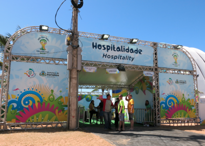 Entrance to the hospitality section in Fortaleza's fan fest.