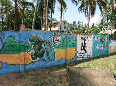 The murals by the beach sponsored by KWATA.