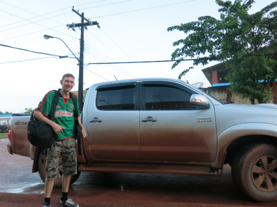 Our Toyota Hilux to take us to Oiapoque.