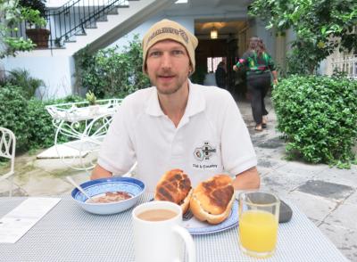 Breakfast at Casa San Ildefonso Mexico City