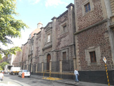 The cool street where Casa San Ildefonso sits!