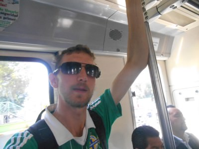 On the way to Estadio Azteca in Mexico City to live out a pure childhood dream. Immense!