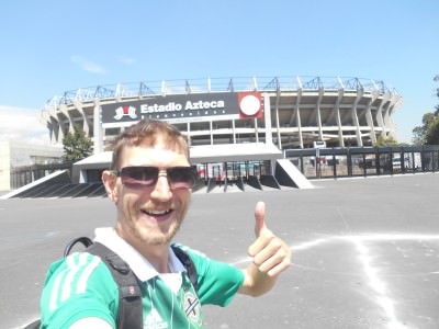 Here I am - at Estadio Azteca in Mexico City!!