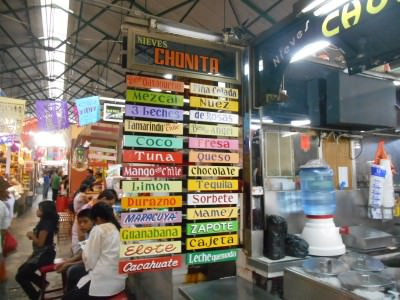 Ice cream range in Chonita, Oaxaca, Mexico