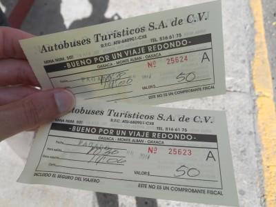 bus tickets oaxaca