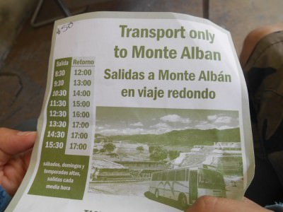 bus to monte alban