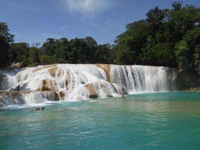 agua azul waterfalls mexico