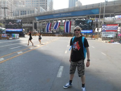 Backpacking in Bangkok - not my favourite city but I tend to pass through it...