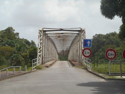A bridge in Sinnamary, French Guyana.