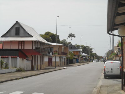 Downtown Sinnamary, French Guyana.