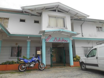 Ballahou in Kourou - the hotel where we accidentally took the remote control for the TV.