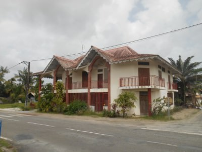 A local house in Iracoubo, French Guyana.