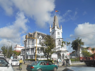 The City Hall in Georgetown, Guyana