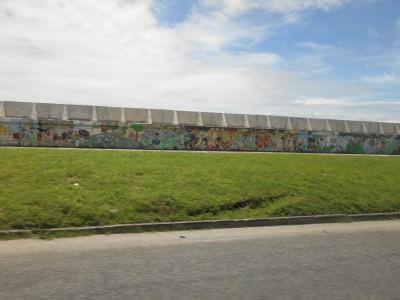 Graffiti on the seawall