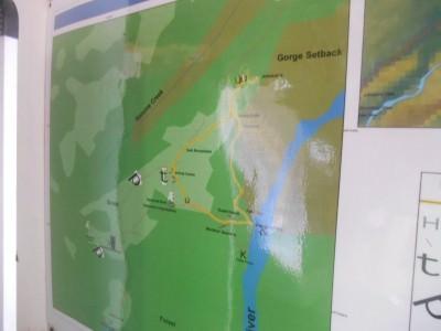 Map at Kaieteur National Park