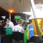 """View from a beer watching """"The 7-1 match"""" in Foz do Iguacu, Brazil."""
