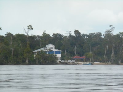 The remote Sloth Island, Guyana.