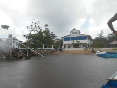 The magical arrival on Sloth Island, Guyana.